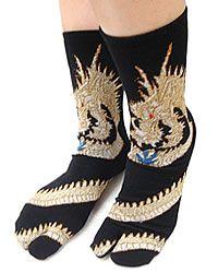 Tabbisocks Split Toe Dragon Flip Flop Socks