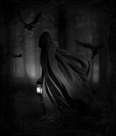 Shadow Witch and Raven Fantasy World, Dark Fantasy, Fantasy Art, Flying Raven, Samhain, Rabe, Deviantart, Gothic Art, Pics Art