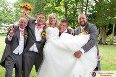 Cute Funny Holding the Bride Wedding Photograph Drayton Manor Theme Park