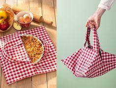 Très pratique ce joli sac à tarte en tissu, vous permet de transporter vos plats lors d'un pique-nique par exemple. Le petit plus : ce sac garde à températur...