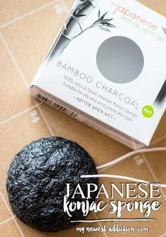 The Japanese Konjac Sponge   Bamboo Charcoal - My Newest Addiction