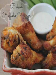 Looking for an easy Buffalo Wings Recipe. This is a fool proof super easy recipe for Buffalo wings that are quick and taste great! Healthy Chicken Recipes, Healthy Dinner Recipes, Cooking Recipes, Yummy Appetizers, Appetizer Recipes, Baked Buffalo Wings, Soul Food, Family Meals