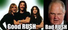 Rush Limbaugh,  Rush band pun