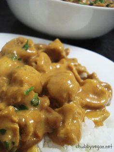 PTS (proteína de soja) e shampignon ao molho de curry