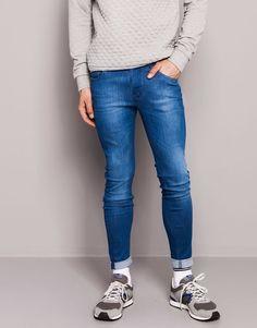 Pull&Bear - hombre - jeans - jeans skinny fit - turquesa - 05682514-V2015 Skinny Pantalones por que yo quiero.