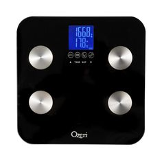 Ozeri Touch 440 lbs Total Body Bath Scale  Measures Weight Fat  Free Shipping
