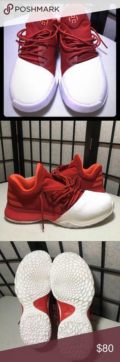 Adidas Harden Red White James Harden Basketball Adidas Harden Vol. 1 Home Red / White James Harden Men's Basketball Shoes adidas Shoes Athletic Shoes