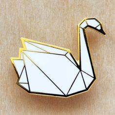 *Origami Swan Brooch - MISIA TR