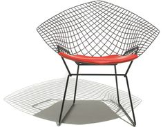 The Bertoia Diamond Chair. Completely ridiculously awesome.