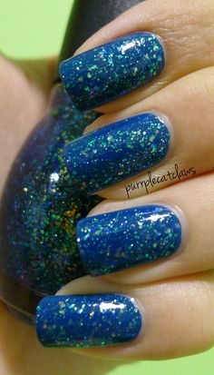 Nail Junkie over 1 coat American Apparel Peacock