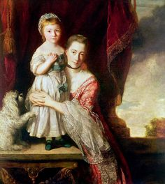 Georgiana, Countess Spencer with Lady Georgiana Spencer (1759-61) - Sir Joshua Reynolds