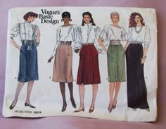 1987 Uncut   Vogue's  Basic Design  Patterns by lovelylovepatterns, $4.50