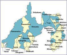 Shizuoka map