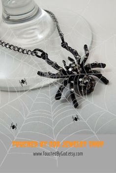 #Etsy #Necklace #Jewelry #Halloween #Gothic #Spider ~ Great piece to complement…
