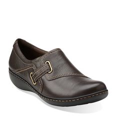 Ashland Blush in Brown Leather - Womens Shoes from Clarks