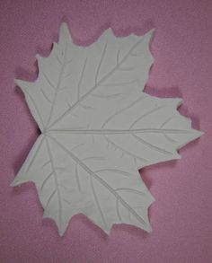 Maple Leaf Veiner By Jennifer Dontz at Sugar Delites. Made from a real Maple Leaf! The detail is amazing.