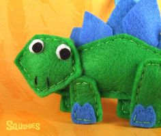 Dinosaur Felt Ornament -Duncan the Stegosaurus