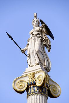 Athena inspires me to be strong willed, determined, brave and courageous.