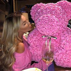 Find images and videos about girl, beautiful and pink on We Heart It - the app to get lost in what you love. Teddy Bear Toys, Valentines Day Weddings, Valentine Gifts, Luxury Flowers, Roses Luxury, Foam Roses, Girly Things, Pretty In Pink, Beautiful Flowers