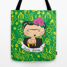 frida kahlo by iso Tote Bag by iso.  - $22.00