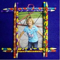 DIY Kids Crafts : DIY Easy Pencil Picture Frame