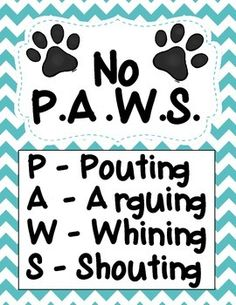 Dog Themed Classroom Management Poster! 11 different colors to fit your classroom theme! Only $1.50 Check out https://www.entirelyerika.com/ for more classroom tips, resources, and other lifestyle resources!