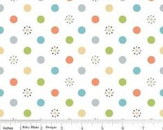 Life In The Jungle  Dots White by Doohikey Designs by JAQSFabrics, $9.00