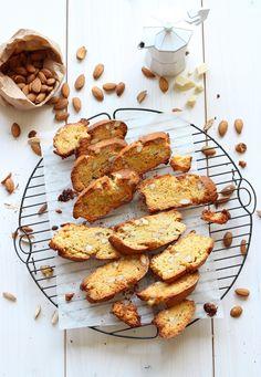white chocOlate and almond biscotti
