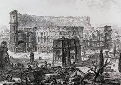 Grabado de Giambattista Piranesi, perteneciente al álbum Vistas de la Roma Antigua (1772).