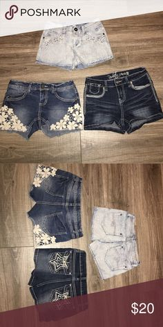 Girl's Jean Short Bundle Girl's Jean Short Bundle- Size 10: EUC! The brands include Justice, Revolt, and Imperial Star. They come from a smoke free home. Justice Bottoms Shorts