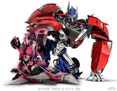 I love these two... so yeah... something i've done in an hour Note : I DID NOT make the Optimus... i only make Elita... Original Optimus Image : myfantasyart.com/2012/03/06/ne… TFP belongs t...