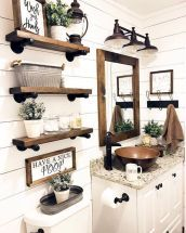Nice 40 Best Farmhouse Bathroom Decor Ideas Source : Https://worldecor.co