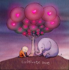 Buddha Doodles by Molly Hahn Cultivate Love Tiny Buddha, Little Buddha, Buddah Doodles, Think Deeply, Multimedia Artist, Cute Quotes, Zen Quotes, Quotable Quotes, Spiritual Quotes