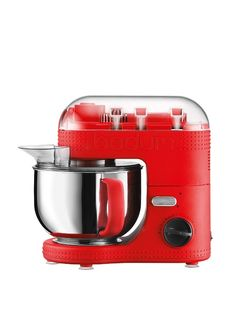 Loving dashes of colors in the kicthen! About time! Bodum Bistro 5-Qt. Electric Stand Mixer at MYHABIT