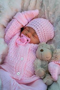 Details about Bebe Reborn Baby Girl Doll Clothes Newborn clothing set Not Included Doll US Baby Dolls For Sale, Life Like Baby Dolls, Life Like Babies, Real Baby Dolls, Realistic Baby Dolls, Baby Girl Dolls, Reborn Baby Girl, Reborn Babypuppen, Reborn Toddler Dolls