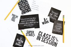 Free Back to School Project Life Cards   Sweet Rose Studio