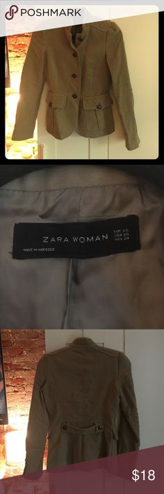 Military style Zara jacket - faux suede. This military style jacket is super cute, fits well. Zara Jackets & Coats Blazers