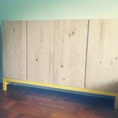Ivar cabinet w yellow legs