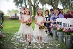Ceremony at Big Oak Tree at Lange Farm http://celebrationsoftampabay.com/photographers-pasco-county/