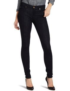 7 For All Mankind Women's Skinny Jean With Contoured Waistband, Slim Illusion Rinse, 26