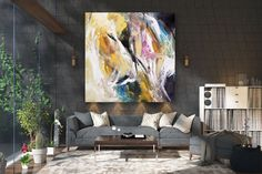 Items similar to Large Modern Wall Art Painting,Large Abstract Painting on Canvas,texture painting,gold canvas painting,gallery wall art on Etsy Large Abstract Wall Art, Large Canvas Art, Large Painting, Texture Painting, Abstract Canvas, Texture Art, Painting Art, Acrylic Canvas, Knife Painting