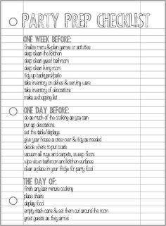 Party Prep Checklist - Pretty Providence