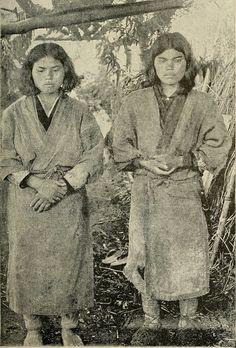 Aino Girls, Tokoro. 1890