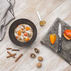 our winter recipe series is back! this time @breakfastcriminals is sharing a walnut + persimmon porridge - check it out at sweetgreen.tumblr.com #tastetheseason #lunch #L4L #yum #sharefood