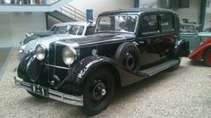 Technical museum in Prague.Black on car.