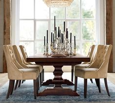 Banks Reclaimed Extending Dining Table  Pottery Barn $2199 Must Impressive Dining Room Pottery Barn Decorating Inspiration
