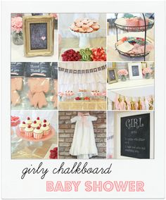 girlychalkboard shower - lots of other pretty party ideas