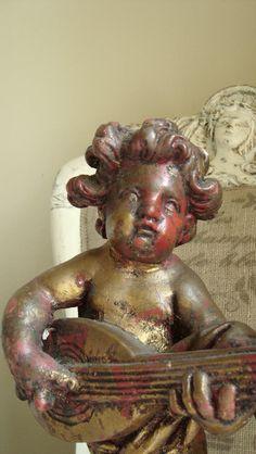 Antique Italian Putti Statue Cherub Florentine by edithandevelyn on Etsy!