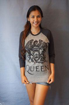 Queen Baseball T Shirt Men Women Long Sleeve Tshirt Jersey Raglan Long Sleeve T Shirts Unisex Size M L on Etsy, ฿561.22