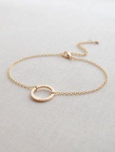 Simple Circle Bracelet  gold circle